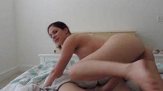 Milf Mom Rides Step Son And Begs For Cum – Ashley Alban
