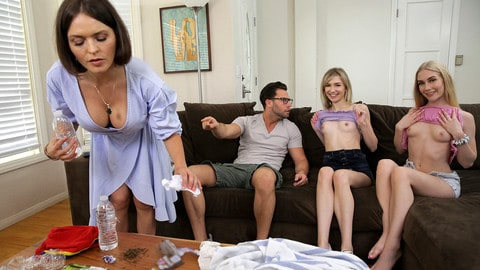 Emma Starletto, Mackenzie Moss – My Friends And I Flash Our Tits To My Brother – BrattySis