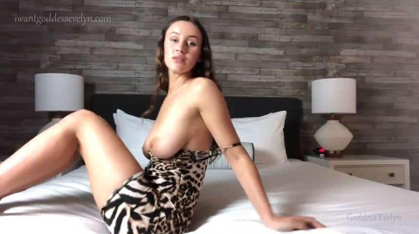 Goddess Evelyn – Stepmom Makes You Eat Your Cum