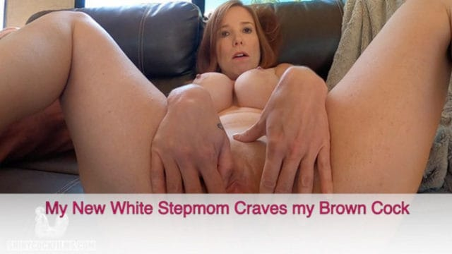 Jane Cane – My new White Stepmom Craves my Brown Cock